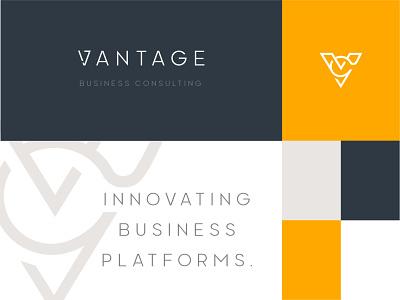 Vantage Business Consulting Logo logo design brand identity brand design brand branding identity logo design