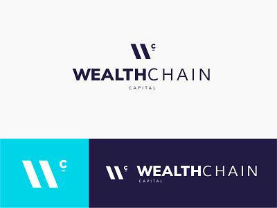 Wealth Chain Logo brand identity logo design brand design brand branding identity logo design