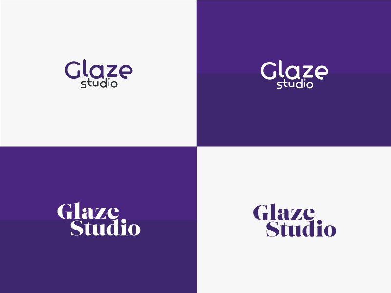 Glaze Studio Logos Ideas // 2016 agency design studio glaze purple logo branding