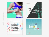 Motivational fitness quotes for social media
