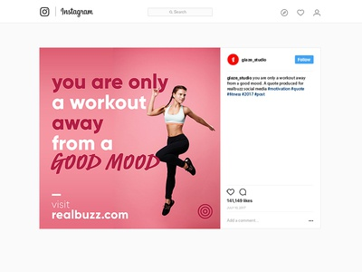 Social Media Fitness Quote Post