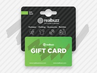 Gift Card Holder and Card Design for realbuzz stores