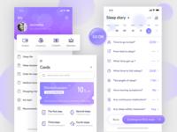 Sleep evaluation app interface