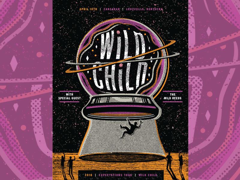 Wild child the wild reeds tour poster concept 3 v3 dribbble