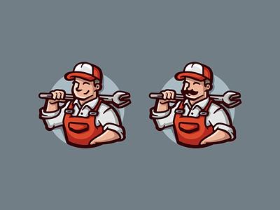 Renonations typohraphy typo wordmark diy fix wrench worker hat handyman mascot character illustration branding mark logotype design logo