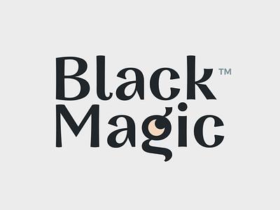 Black Magic bad scar animal design moon mean blackmagic black dark cat mascot character illustrations brandiing mark logotype logo