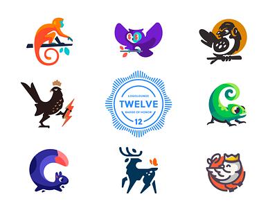 LogoLounge 12 simple modern mascot character bird animal 12 book logolounge illustration branding mark logotype design logo