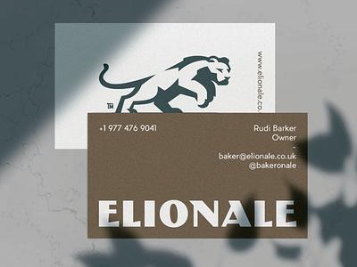 Elionale logotype fast sharp elegant cat stong lion negativespace illustration branding mark logodesign design logo