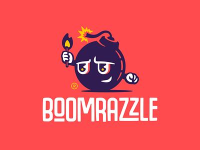 Boomrazzle wordmark type typface logodesign flame fire matches bomb boom mascot character illustration branding mark logotype design logo