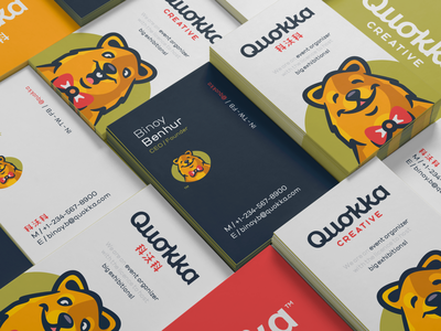 Quokka bowtie shanghai organization event happy funny smile quokka animal illustration branding mark logotype designs logo