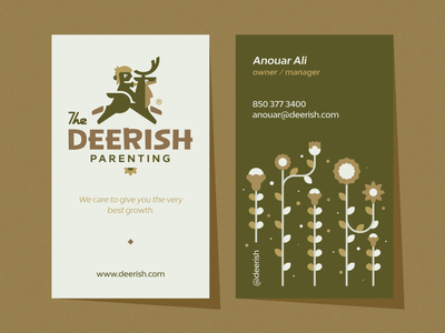 Deerish typography typo lettering parenting boy child deer animal illustration branding mark logotype design logo