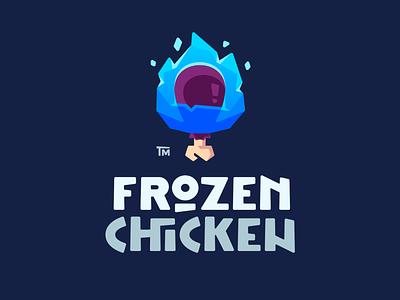 Frozen Chicken typo vector bone cold drumstick chicken frozen frost ice flat illustration branding mark logotype design logo