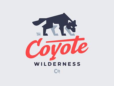 Coyote wilderness wild nature graphic design typography typo wolf coyote vector animal illustration branding mark design logotype logodesign logo