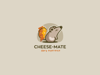 Cheese-Mate. Dairy Experience. cute colorful mice animal dairy cheese mouse mark branding logotype design logo