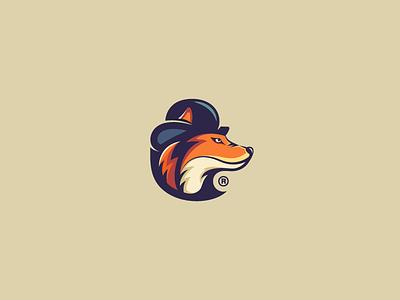 FittedFoxy fedora modern colorful elegant hat fox animal branding mark logotype design logo