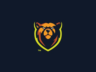 Kodiak strong powerful mark logotype logo illustration grizzly design branding bear animal angry