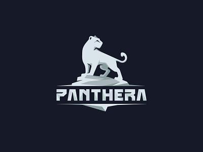 Panthera white panther minimal mark logotype logo illustration design cat branding black animal