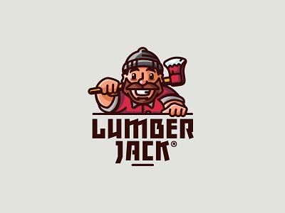 LumberJack strong hat axe forest nature lumberjack illustration branding mark logotype design logo
