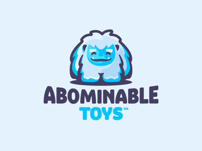 Abominable Toys winter monster cute frozen ice snow bigfoot yeti character mascot illustration barnding mark logotype design logo