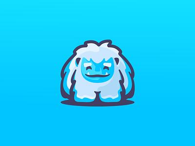 Abominable Toys winter monster cute frozen ice snow bigfoot yeti character mascot illustration barnding mark logotype design logo