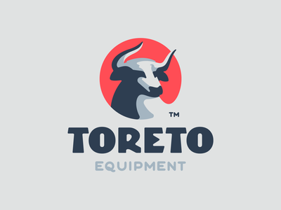 Toreto taurus horn traditional strong negativespace bull toro animal brandign illustration mark logotype design logo