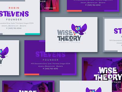 Wise Theory Business Card blog business card bird owl wise illustration branding mark logotype design logo