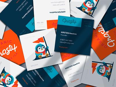 Frosty Business Card business card icetea tea winter arctic bird penguin frosty illustration branding mark logotype design logo