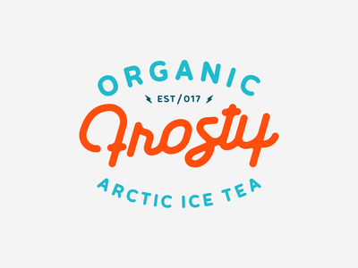 Frosty Wordmark typographie clean frosty organic typedesign type typography calligraphy wordmark branding mark logotype design logo