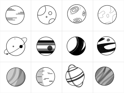 Planets concept draw