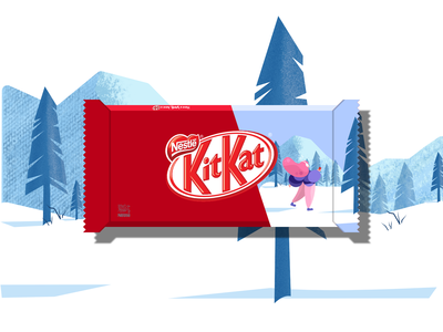 KitKat winter edition wrpper desing