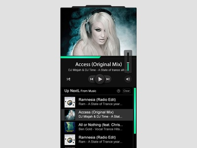 Custom Ui Design Mini Music Player