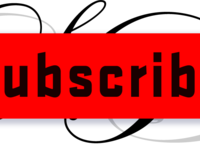 Free red youtube subscribe button by alfredocreates