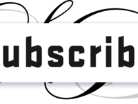 Free white youtube subscribe button by alfredocreates