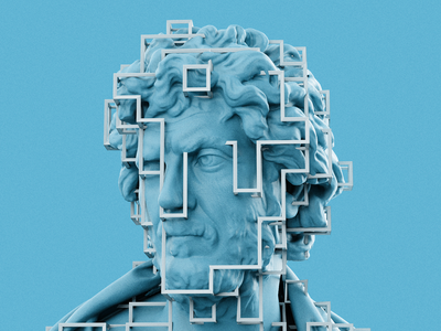 Cube Cells 3d artist statue artwork render illustration 3d art minimal blender 3d