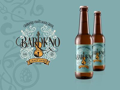 Baroque Craft Lager Beer branding label ornaments music violin craft lager beer baroque