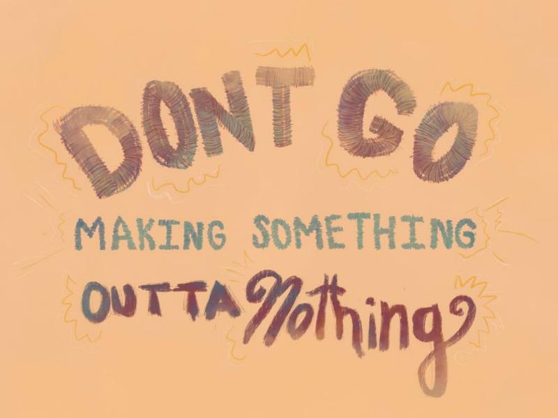 Don't Go lyrics songs handdrawn type hand drawn type procreate illustrator illustration typography