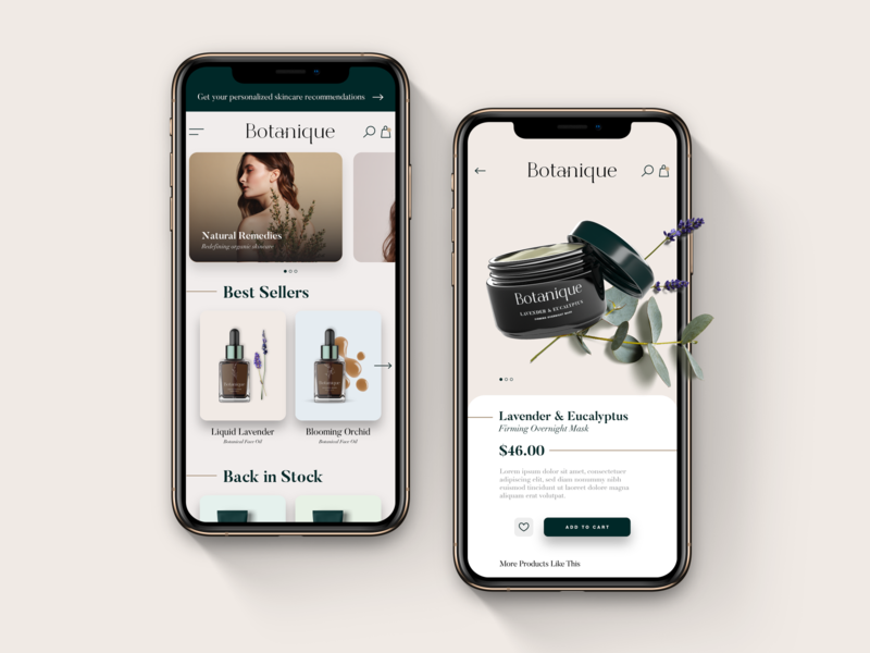 Plant-Based Beauty & Wellness / Web Concept