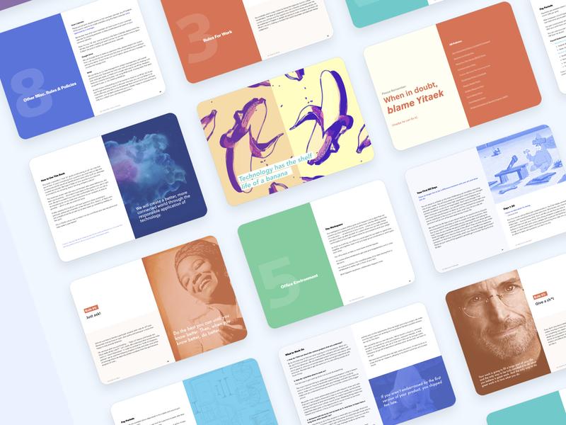 Employee Handbook Design handbook brand book print design print