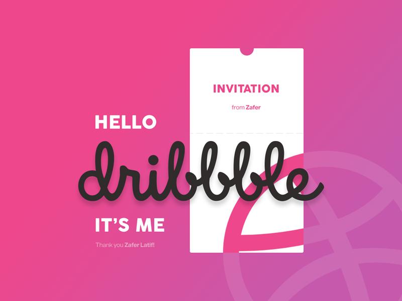Hello Dribbble! purple pink first shot hello