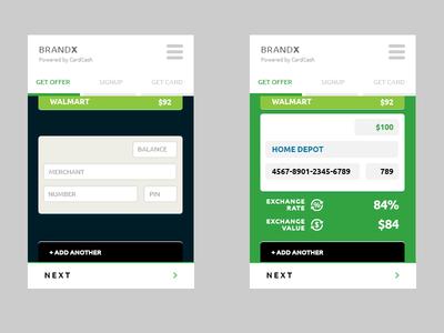 GiftCard Mobile App UI Design by Rajesh Satyarthi - Dribbble