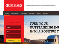 InvoiceFactoring Landing page