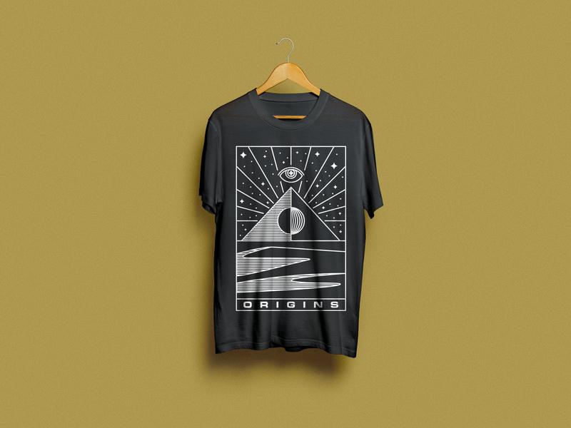Origins providence illuminati seeing all eye origins redbubble monoline sale tee tshirt minimal vector design