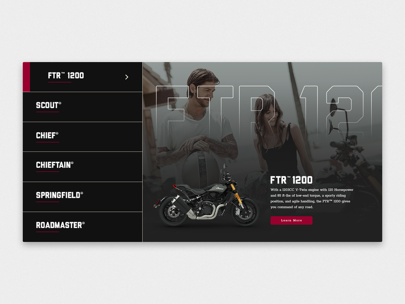 Choose Your Ride website graphicdesign motorcycle indian speculative design web ltx lotux typography minimal icon ux ui