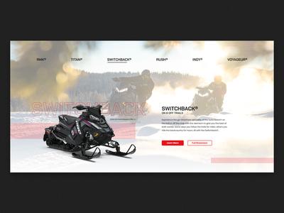 Choose Your Ride 02 website ux ui web concept speculative snowmobile minimal ltx lotux polaris icon graphic design design