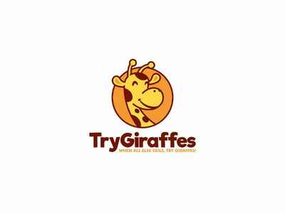 Try Giraffes circle forsale animal cute icon illustration logo cartoon giraffes