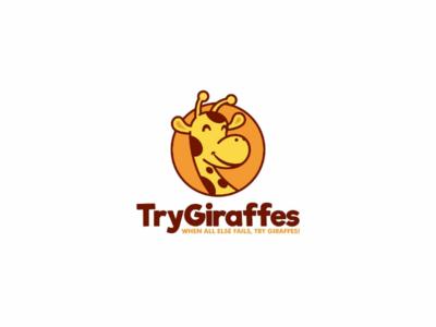 Try Giraffes circle forsale animal cute icon illustration logo cartoon giraffes