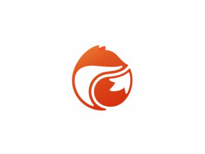 Fox icon forsale unused geometric cute illustration logo circle fox