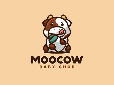 MOOCOW illustration unused character animal mascot logo cat dog sheep child baby shop baby cow