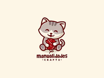 Manualidades Crafts icon pet illustration branding character animal cute mascot logo dog craft knitting knit