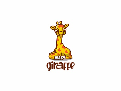 Giraffe branding baby forsale character animal cute unused mascot illustration logo giraffe